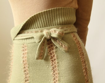 Boho maxi skirt Wool skirt High waisted skirt Spring A-line skirt Long skirt Party skirt Flared skirt Gift for her Knit skirt Bohemian skirt
