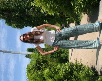 Green Palazzo pants