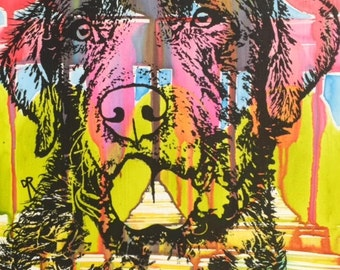 CHESAPEAKE BAY RETRIEVER Pop Art Original Painting