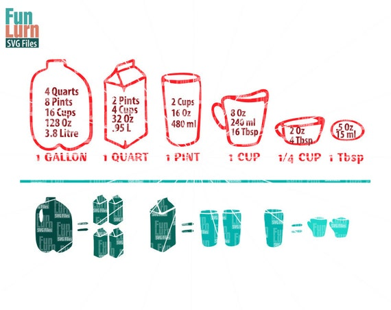kitchen measurements svg gallon quart pint cup. Black Bedroom Furniture Sets. Home Design Ideas
