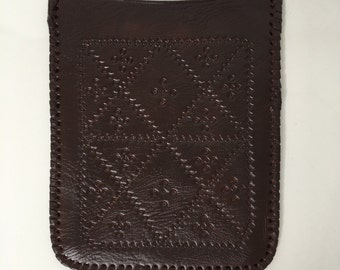 Dark Brown Moroccan Leather Pouch
