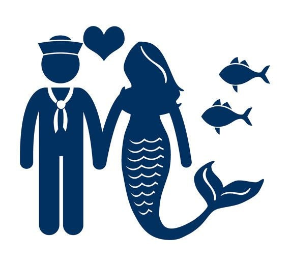 Sailor and Mermaid decal