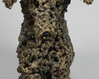 Handmade Shabby Chic Rope Dog Ornament