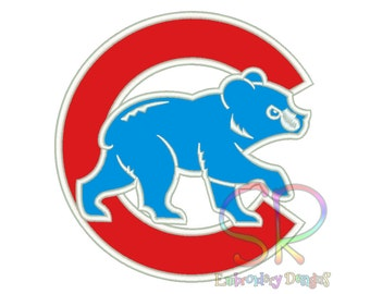 7 Size Chicago Cubs Appliqué Embroidery Designs Baseball Logo Embroidery Design Machine Embroidery - Instant Download