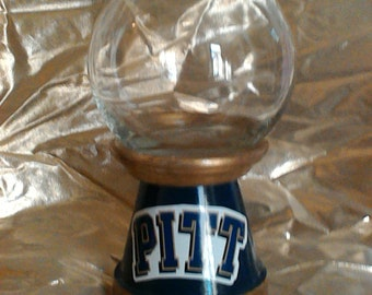 Pitt University decantur/candy jar/canister with lid.