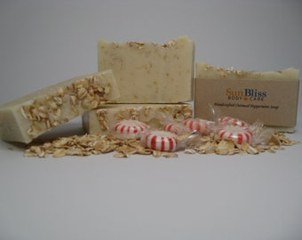 Handcrafted Peppermint Oatmeal Soap