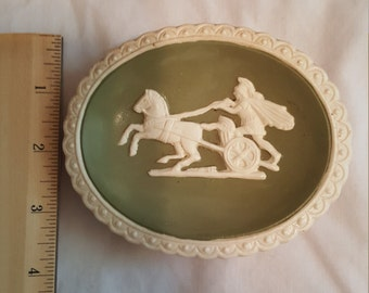 Green and Ivory trinket dish