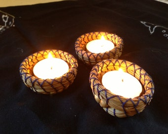 Pine Needle Candle Holder