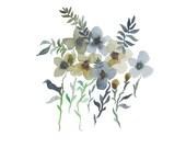 Watercolor Floral Print, Watercolor Floral