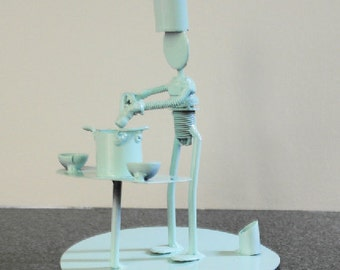 Scrap Metal sculpture Chef