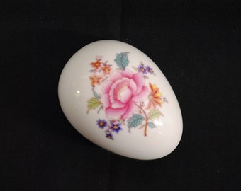 Vintage Herend Porcelain Queen Victoria Egg - Signed and Numbered