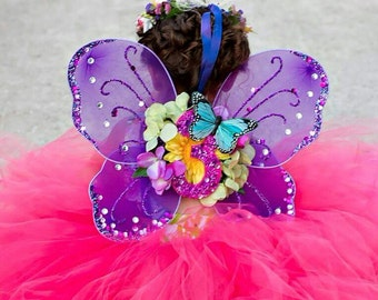 Custom Birthday Fairy & Butterfly Wings, Infant/Toddler Fairy Wings for Cake Smash Photosession, Monogram Fairy or Butterfly Wings