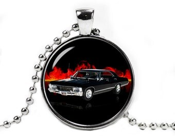 Supernatural Impala Necklace Pendant Supernatural Car Supernatural Jewelry Geeky Fangirl Fanboy