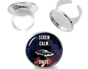 Supernatural Ring Screw Calm Drive Adjustable ring Supernatural Fandom Jewelry Fanboy Fangirl