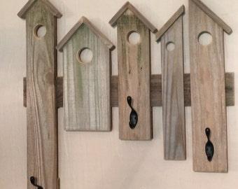 Birdhouse Coat Rack