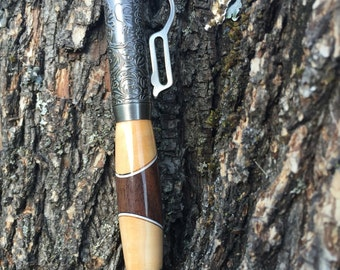 Walnut and dogwood Custom lever action rifle ink pen