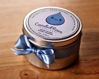 Honeydukes Sweet Shoppe - 8 oz natural soy tin candle - Harry Potter - CandidRain Candlery