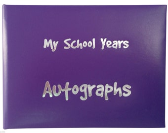 School Autograph Book - Purple