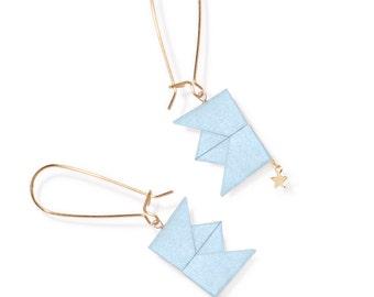 Earrings - Drama Queen - pastel blue