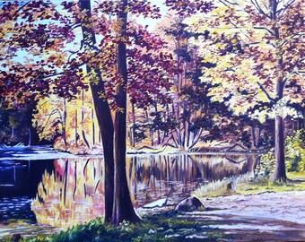 """Autumn Original oil painting 14x18"""""""