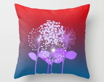 Flowers in the Sunset- Throw Pillow