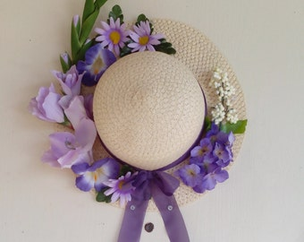 Decorated Spring Floral Hat
