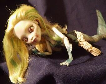 Monster high ooak repaint doll Sharkmaido