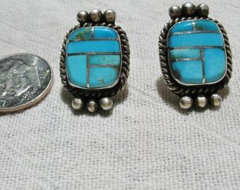 Turquoise mosaic earrings