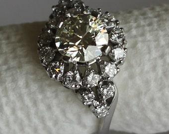Antique Engagement Ring 1.52ct