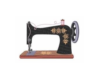 Antique Sewing Machine - Machine Embroidery Design