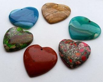 Heart Shaped Crystal Stone Pendant