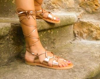 Greek sandals Rose / Greek sandals / rose gold sandals / Golden Sandals / pink sandals Greek / Greek Sandals pink