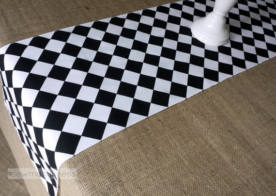 Black and White Diamond Table Runner Harlequin Check Runner : il570xN1008405176mu6w from www.etsy.com size 570 x 404 jpeg 76kB