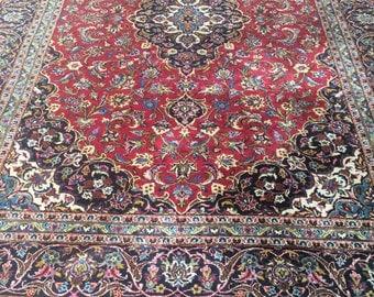 Oriental Rug Antique Persian Kashan