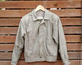 Vintage pigmented genuine leather jacket
