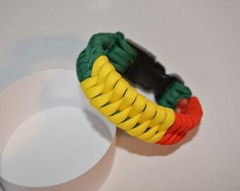 "550 Paracord Bracelet ""snake Rastafari"""