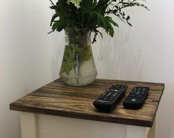 Reclaimed wood bedside/end tables