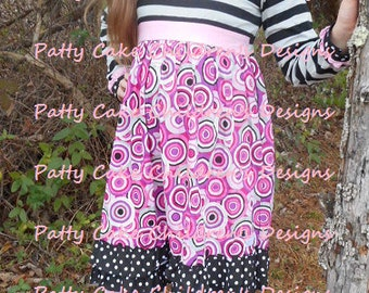 Patty Cake label girls boutique outfit - dress and leggings - sizes 16