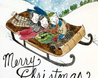Precarious Christmas Sledding