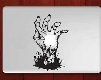 hand laptop decal
