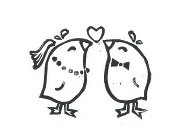 Wedding Card & Envelope - LeLe Birds