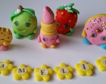 personalised edible cake decoration Shopkins cake toppers personalised edible figure birthday decoration