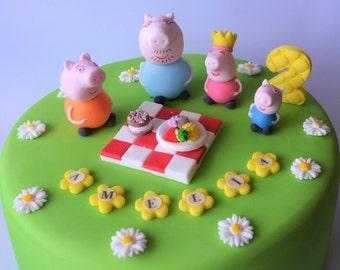 peppa pig cake toppers personalised edible personalised cake decoration birthday decoration