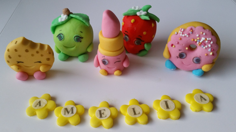 personalised edible cake decoration Shopkins cake toppers personalised edible figure birthday ...