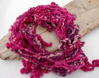 Art yarn statement necklace or cloak made from Merino Wool soft and extravagant