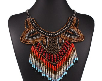Collar Beaded Choker Statement Necklace & Pendants