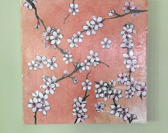 Decoupage Floral Canvas