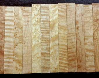 Maple Figured CraftWood Pen Blanks Turning Wood Fishing Lure