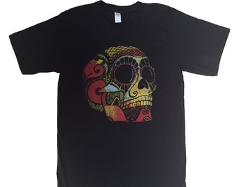 Sugar Skull Mens Graphic Adult T-Shirt Day Of The Dead