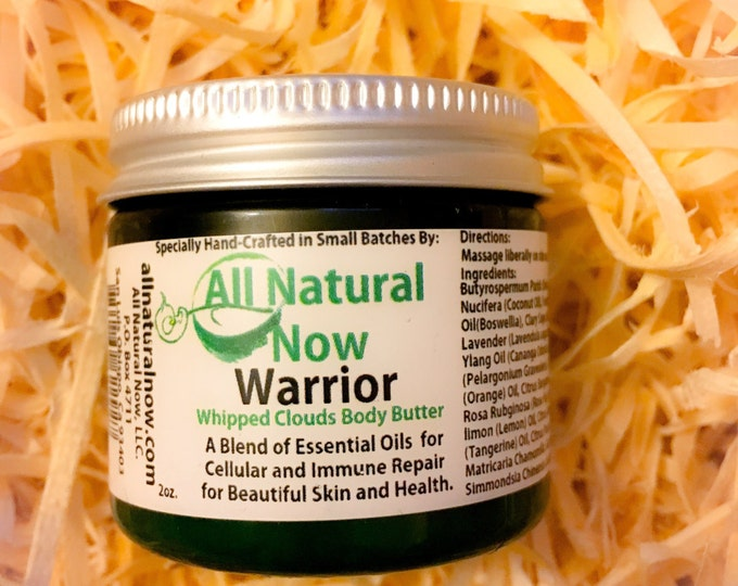 Warrior Whipped Body Butter/100% Pure & Therapeutic Essential Oils/Cellular Repair/Immune Repair/Beautiful Skin